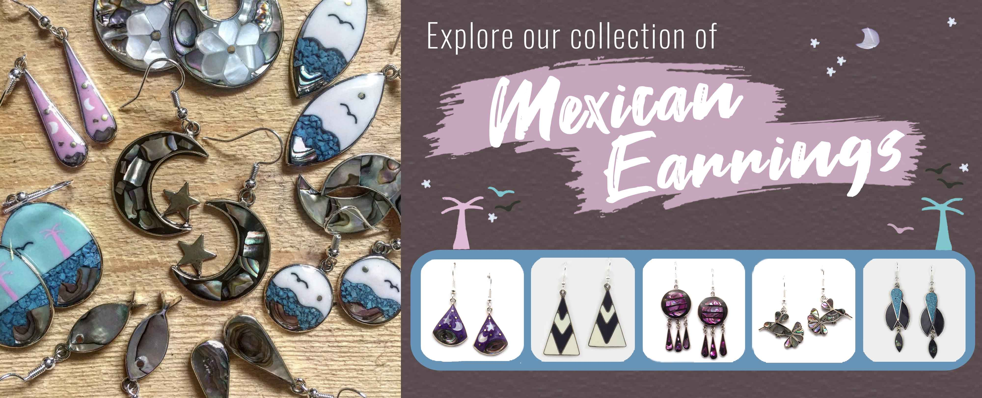 Explore our collection of Mexican earrings