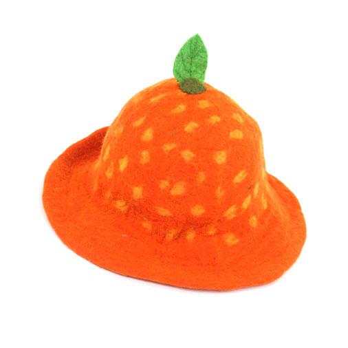 Felt Orange Hat