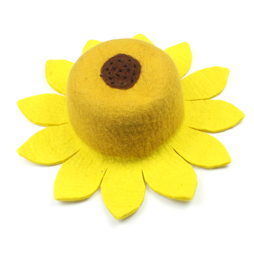 f50e82b889c Hand made felt sunflower hat from Nepal