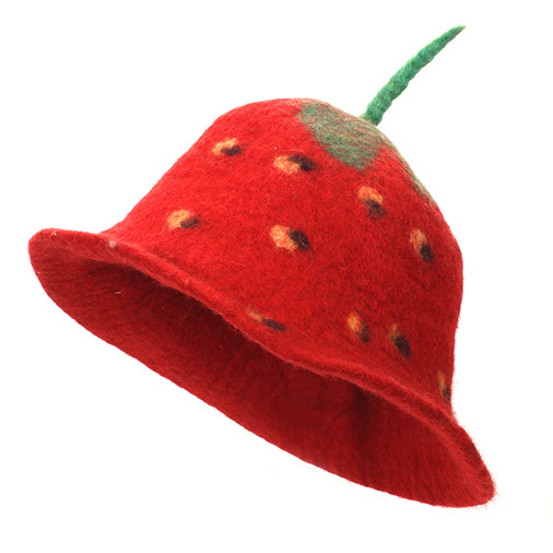 Felt Strawberry Hat