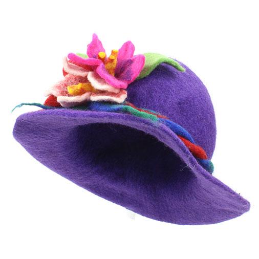 Elaborate Felt Flower Hat
