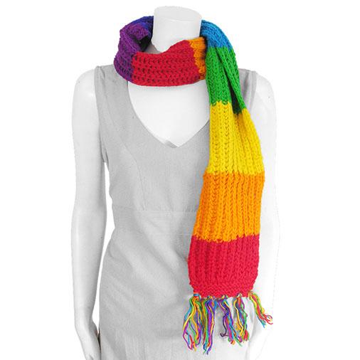 Rainbow Woollen Scarf