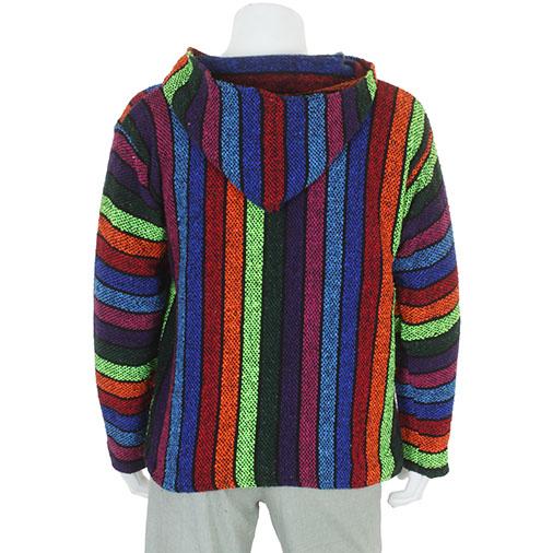 Zipped Baja Hoodie - Rainbow