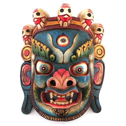 Artisan Blue Bhairab Mask No.155