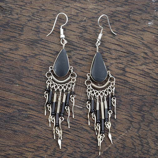 Beaded Drop Earrings