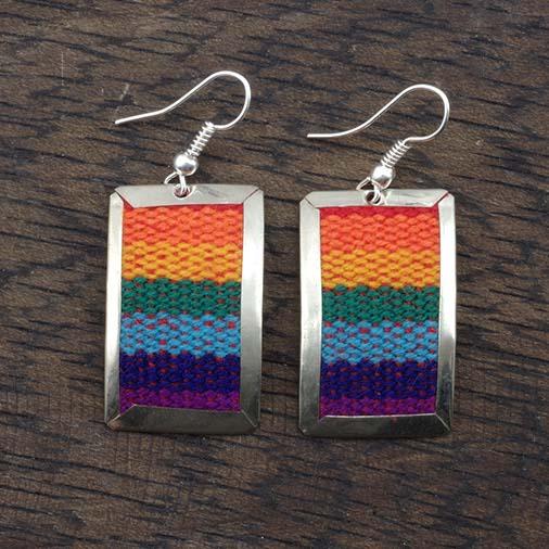 Flat Peruvian Fabric Earrings