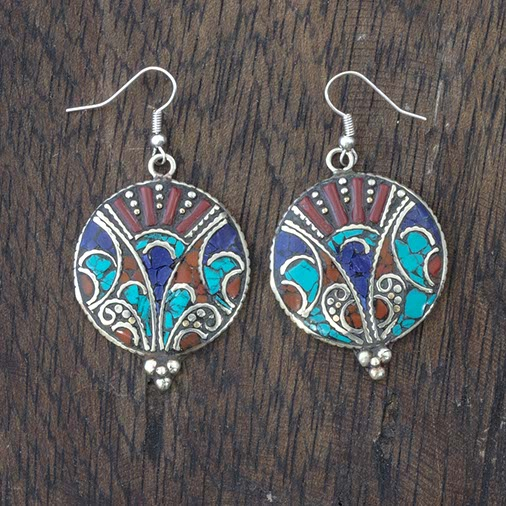 Metal Circle Earrings