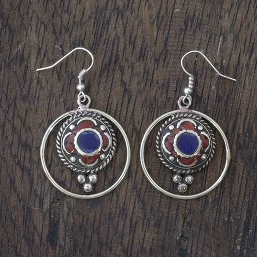 Metal Ringed Earrings