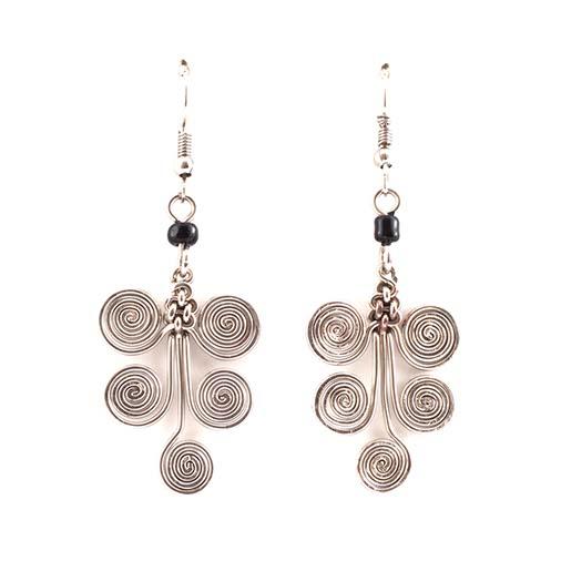 Five Spiral Kenyan Earring