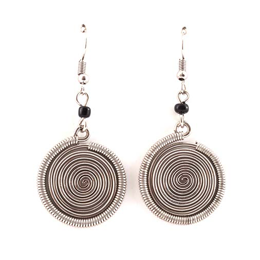 Round Spiral Kenyan Earrings