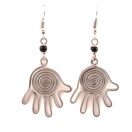 Spiral Hand Kenyan Earrings