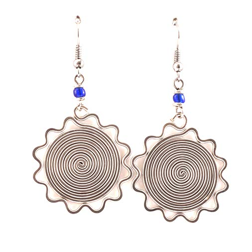 Sun Spiral Kenyan Earrings