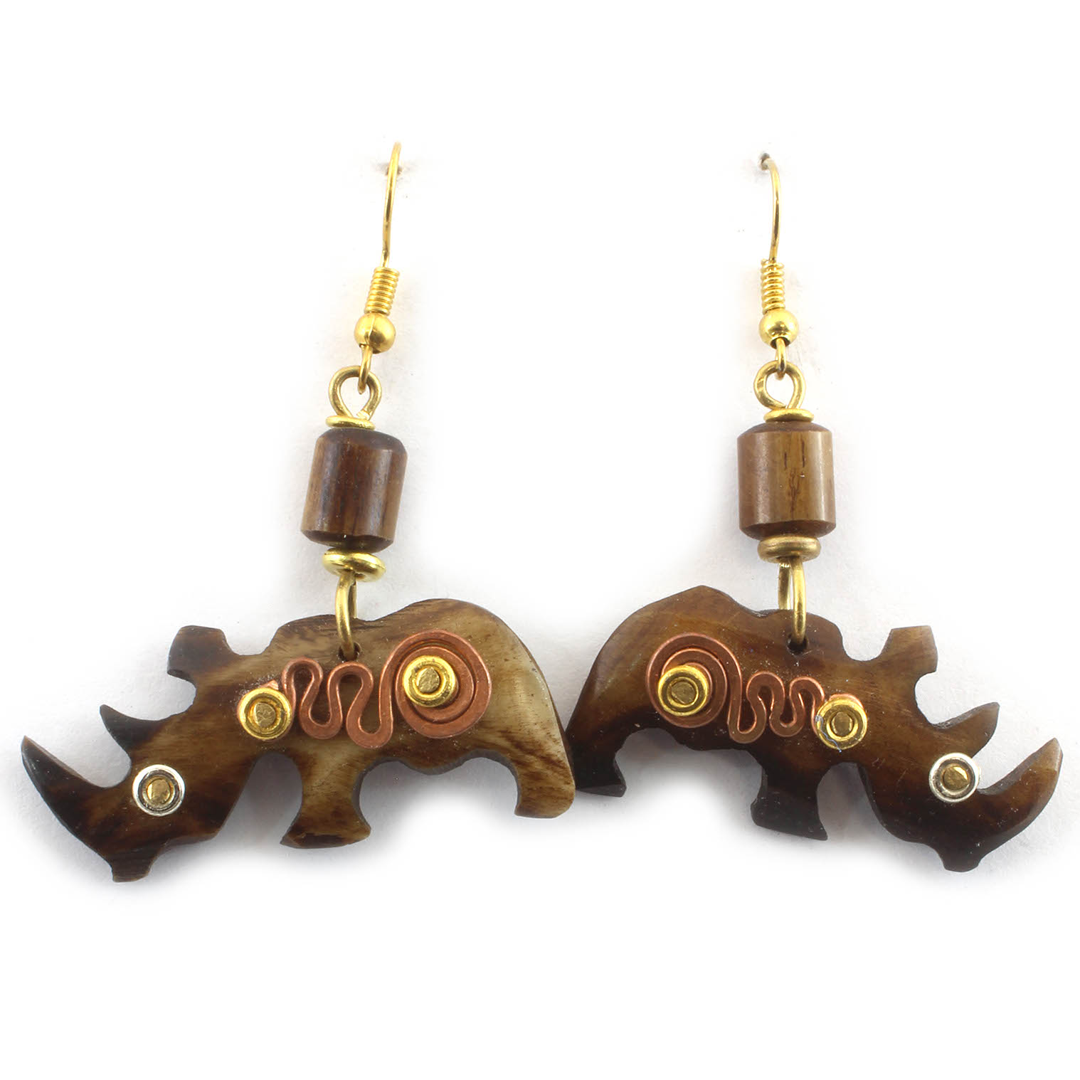 Spiral Rhino Earrings