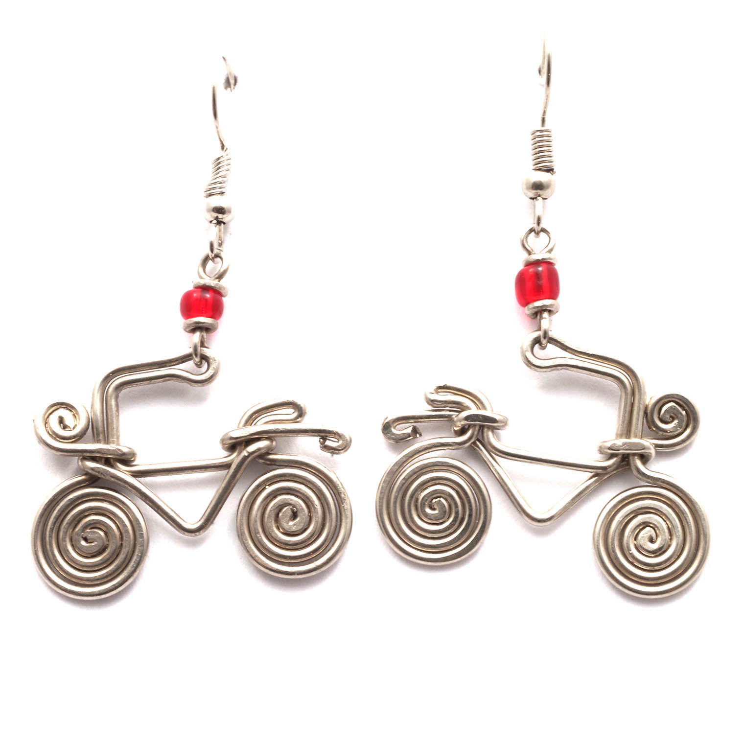 Spiral Bicycle Kenyan Earrings
