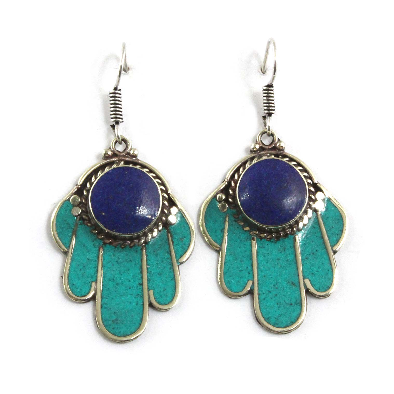 Cyan Fatima Earrings