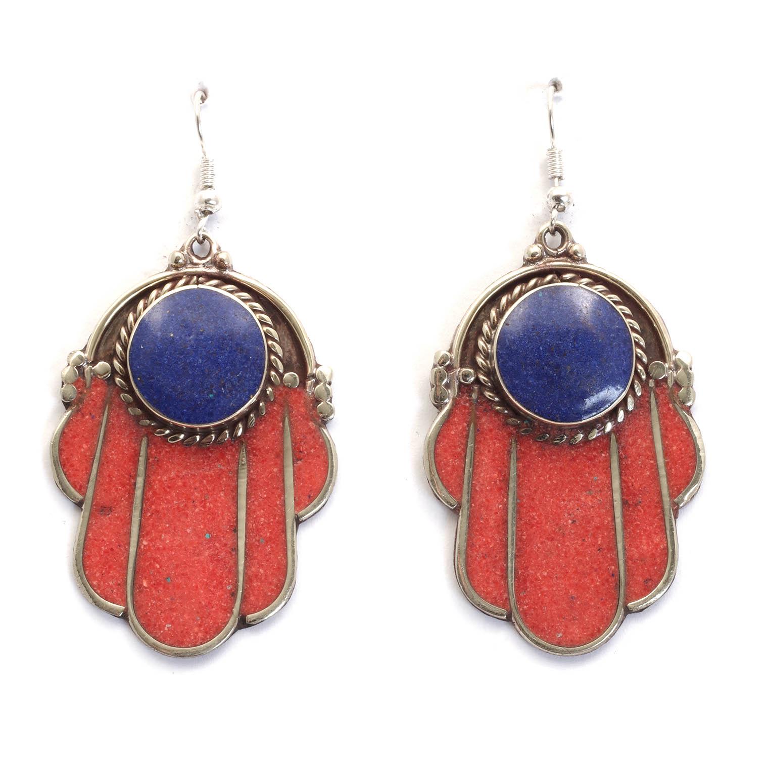 Ochre Fatima Metal Earrings