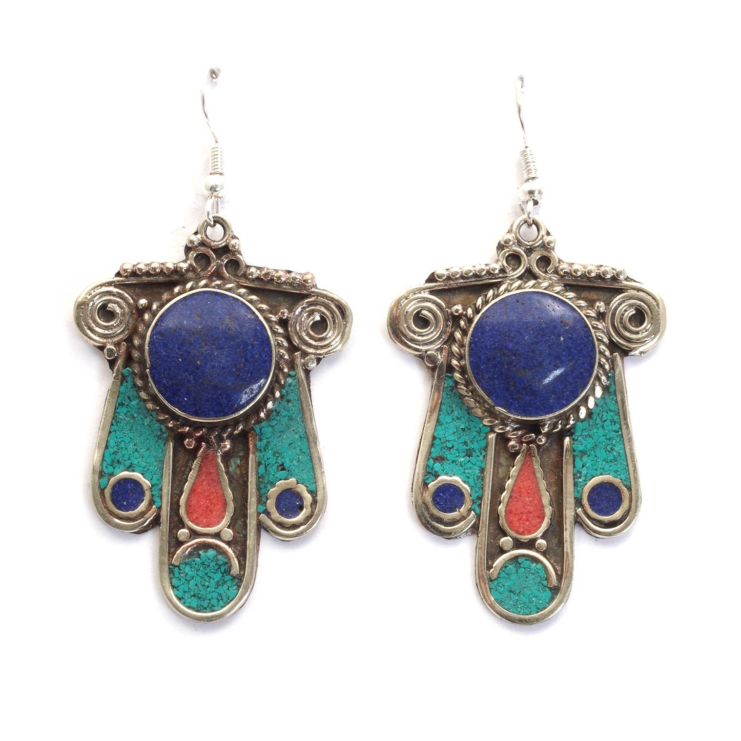 Elaborate Fatima Metal Earrings