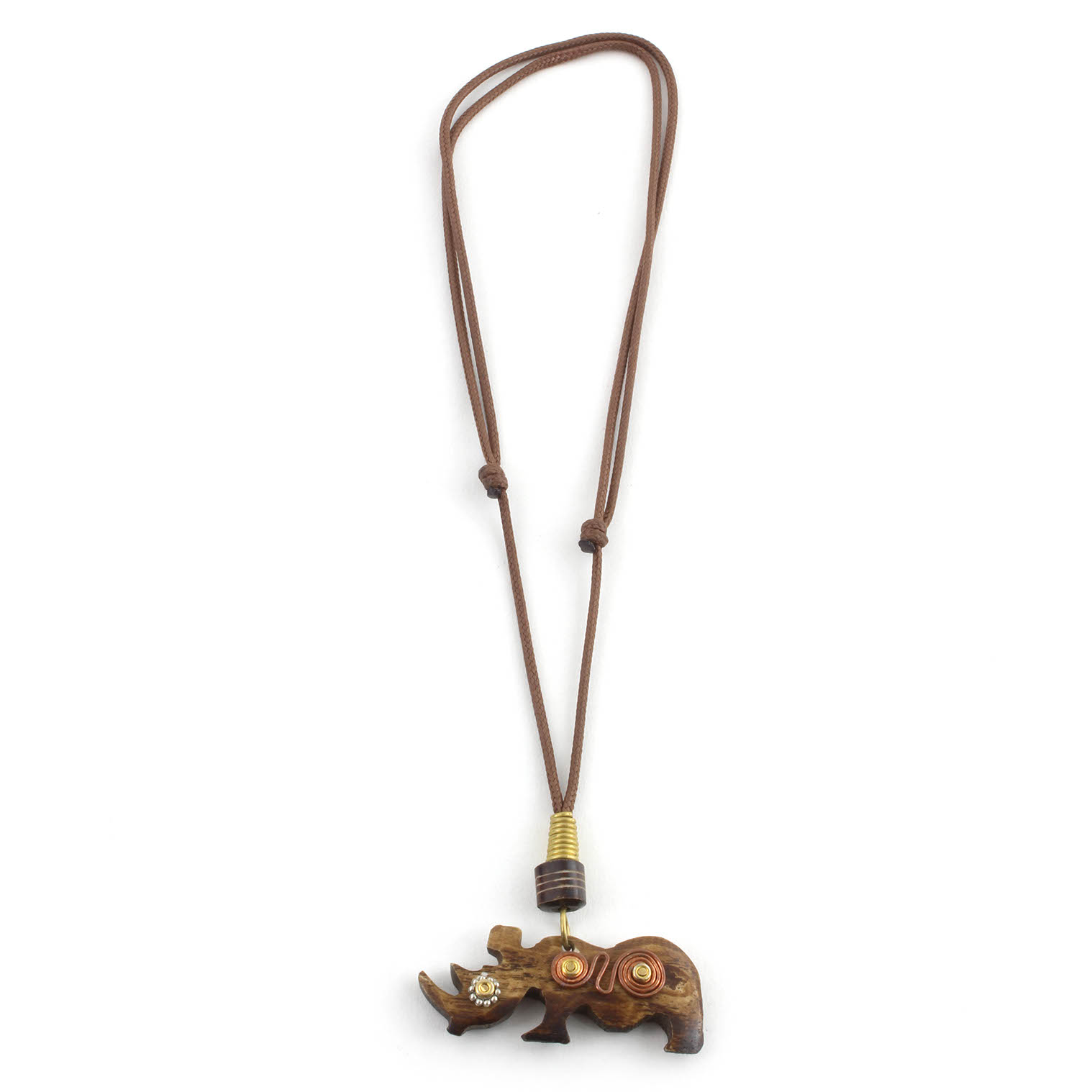Spiral Rhino Necklace