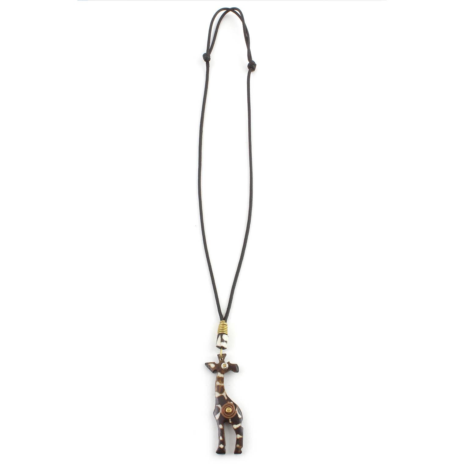 Spiral Giraffe Necklace