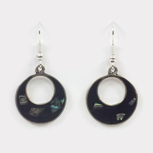 Basilia Black Shell Earrings