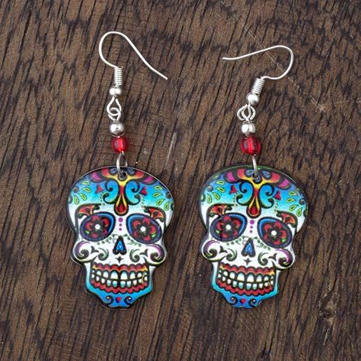 Large Skull Earrings