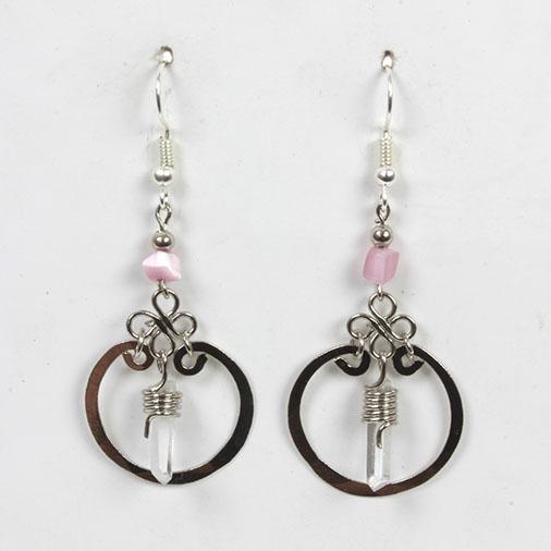 Crystal Ring Earrings