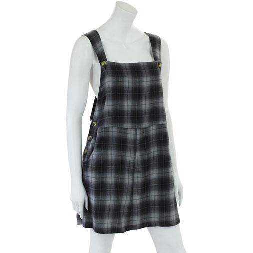 Check Dungaree Dress