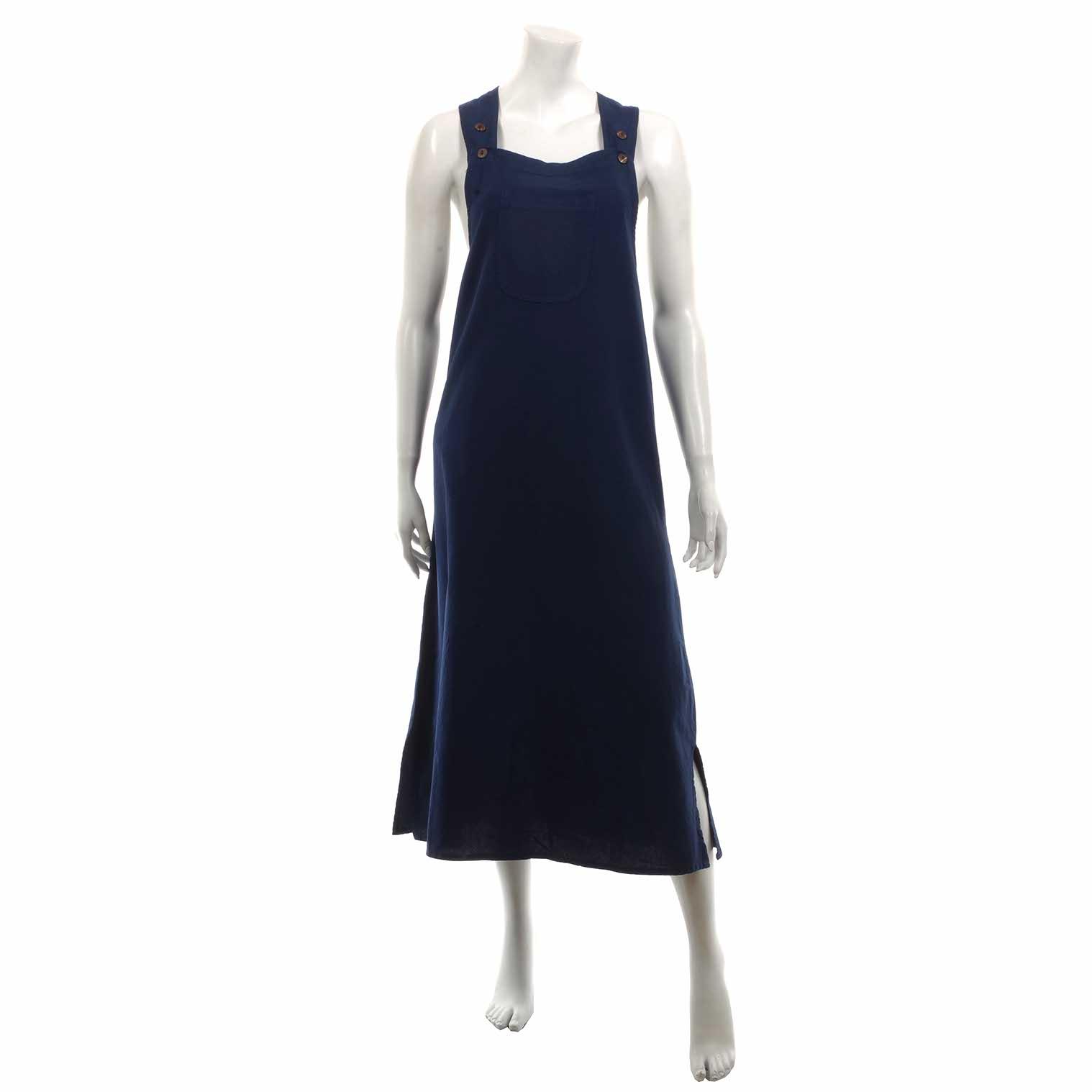 Long Dungaree Dress