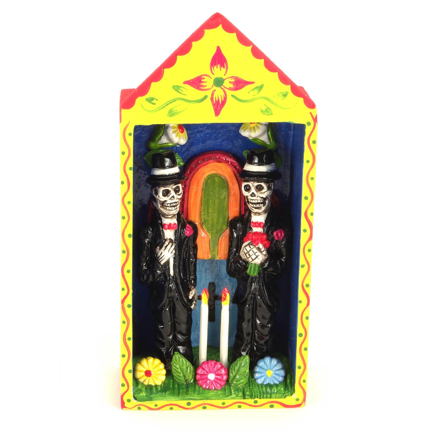 Tall Wedding Retablo - Two Grooms