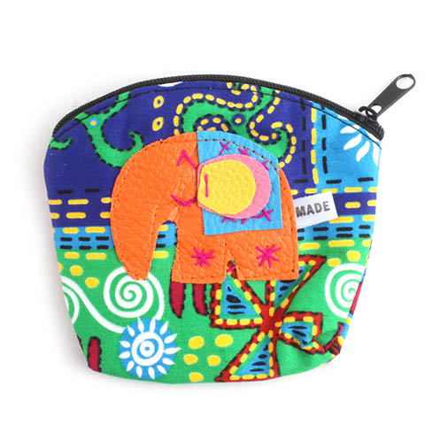Psychedelic Elephant Purse