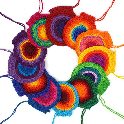 Crochet Coin Pouches ×12