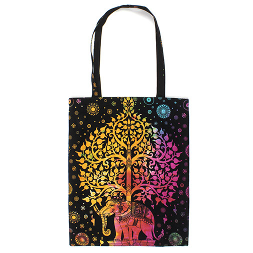 Indian Elephant Tree Tote Bag