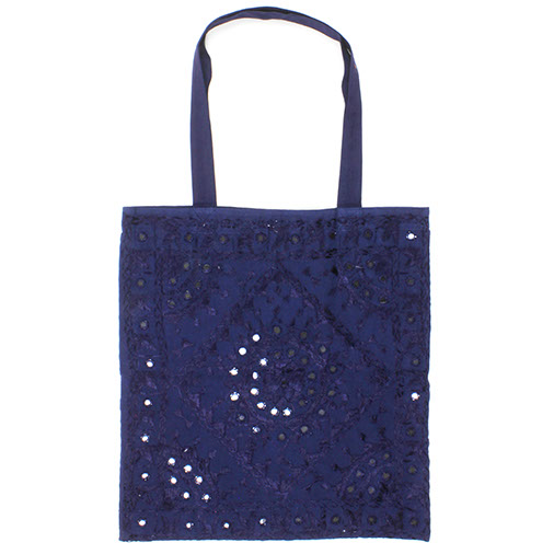 Embroidered Indian Tote Bag