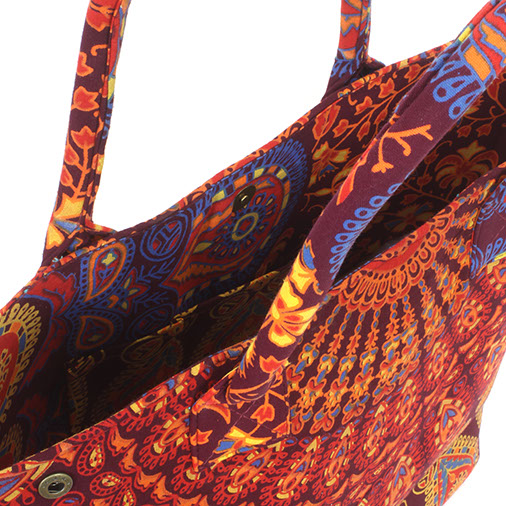Indian Peacock Big Shopper Bag