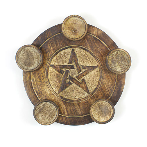 Pentacle Pentuple T-Light Holder