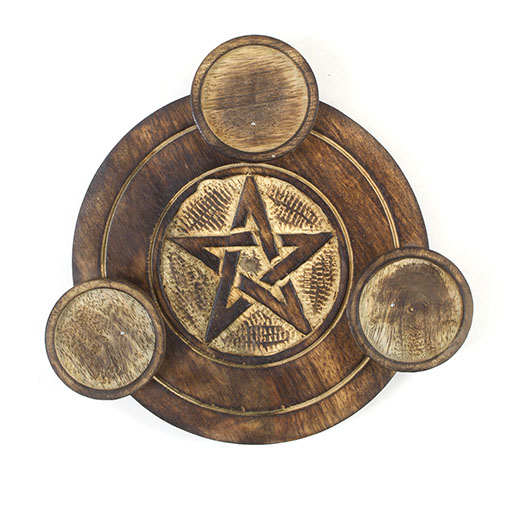 Pentacle Tri T-Light Holder