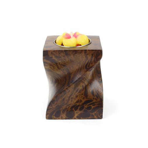 Mango Wood Twist Tea Light Holder Candles Handmade Fair