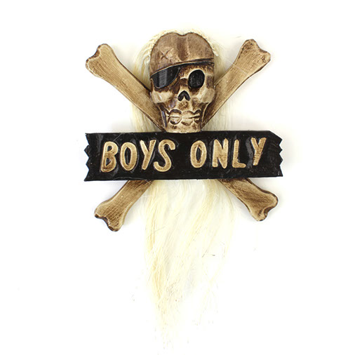 """Boys Only"" Plaque"