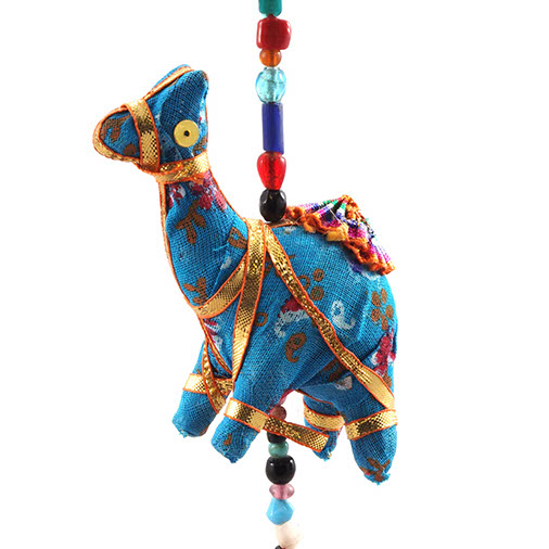 String of rustic camel tota bells from India