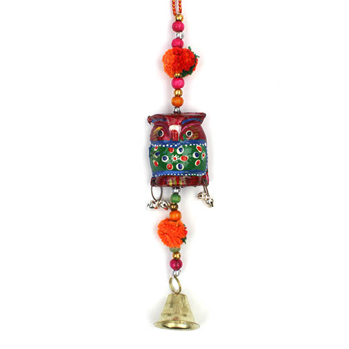 Single Hanging Owl with Bell