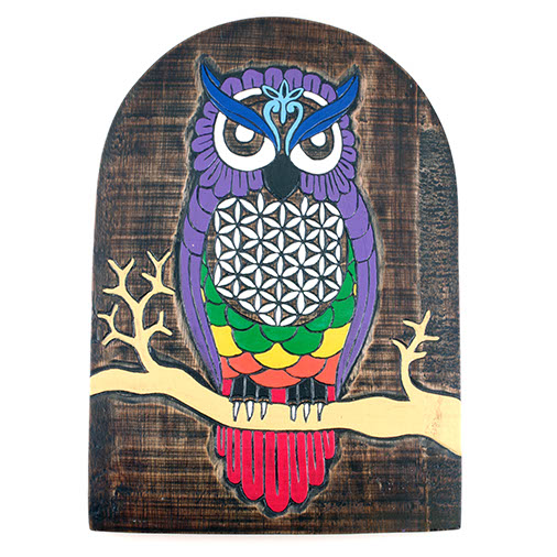 Owl of Life Plaque