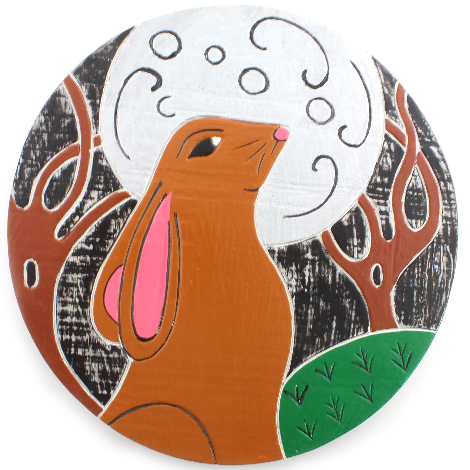 Hare and Moon Plaque
