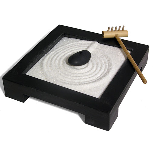 zen garden sand meditation feng shui fair trade from siesta. Black Bedroom Furniture Sets. Home Design Ideas