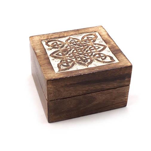 Carved Celtic Mango Wood Box