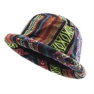 Woven Fabric Roll Brim Hat