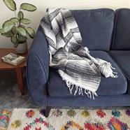 Mexican Falsa Blanket - Grey