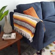 Mexican Falsa Blanket - Caramel
