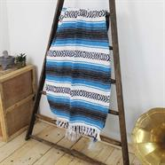 Mexican Falsa Blanket - Sky Blue