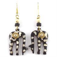 Spiral Eating Giraffe Earrings
