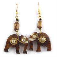 Spiral Elephant Earrings
